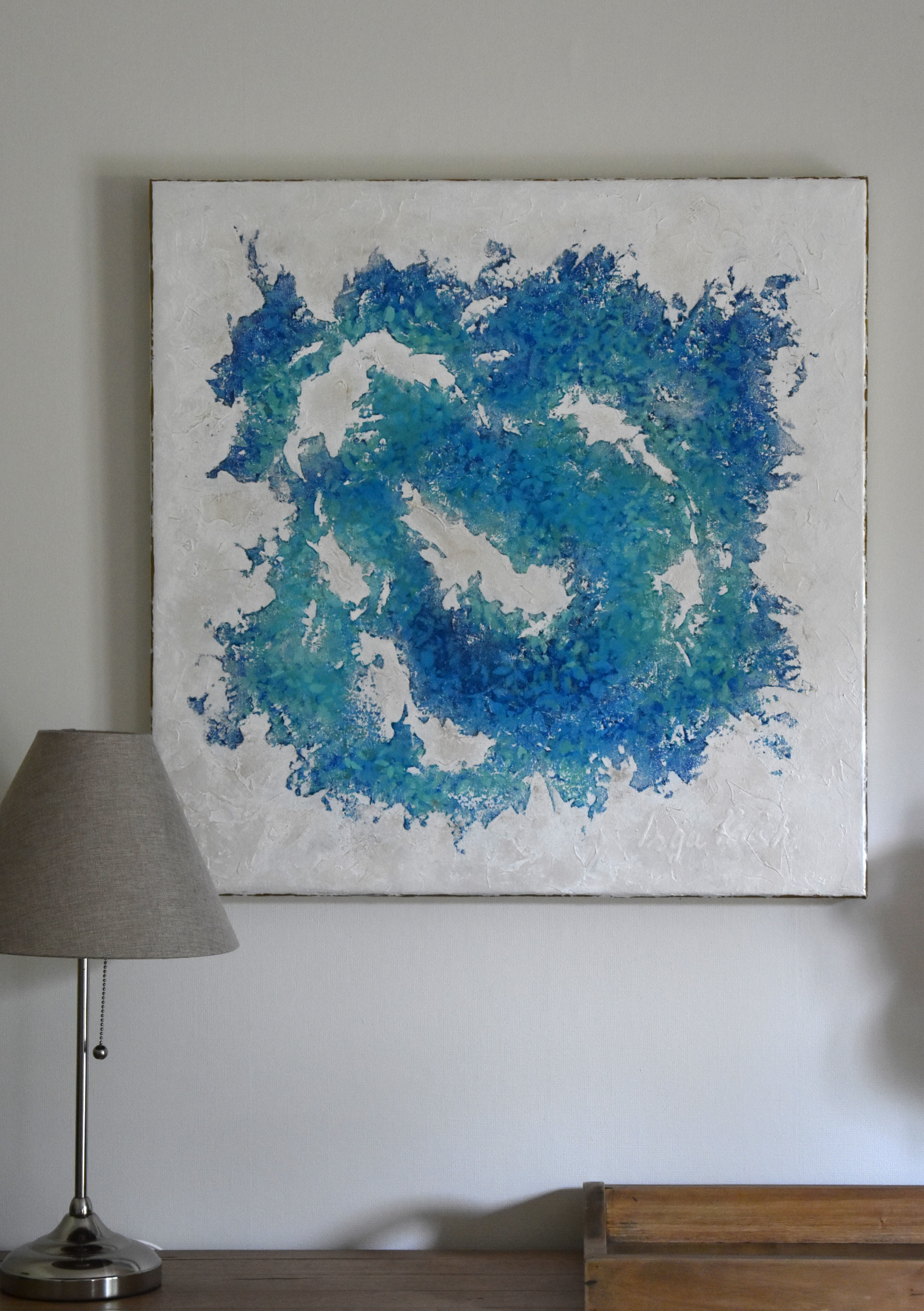 Square abstract painting 70x70