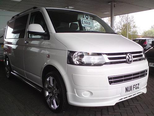 VW T5- Front splitter (S-LINE LOOK) Only for Transporter Facelift
