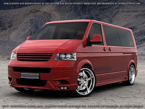 VW T5/T6- Side Skirts (GTX), only for LWB