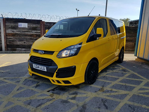 Ford Transit Custom- Front Bumper (M style), only for Prefacelift (NARROW)