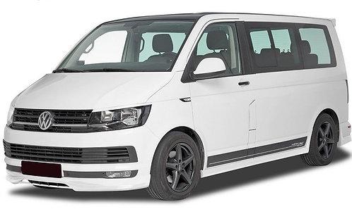 VW T6- FRONT SPLITTER BUMPER LIP SPOILER VALANCE ADD ON (S-LINE)