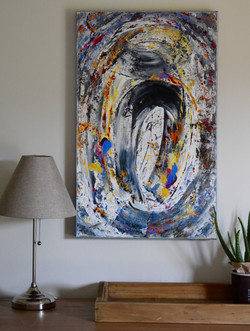 Paintings in interior in Kortenberg