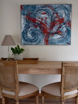 Blue abstract painting 100x80 cm