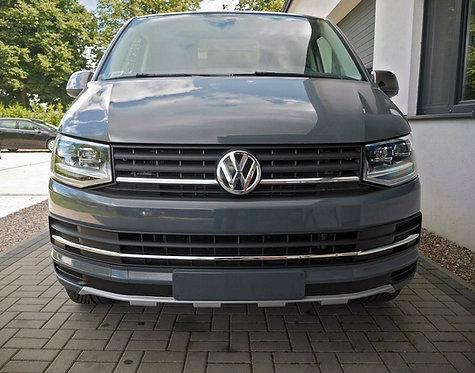 VW T6- FRONT SPLITTER BUMPER LIP SPOILER VALANCE ADD ON (PANAMERICANA LOOK)
