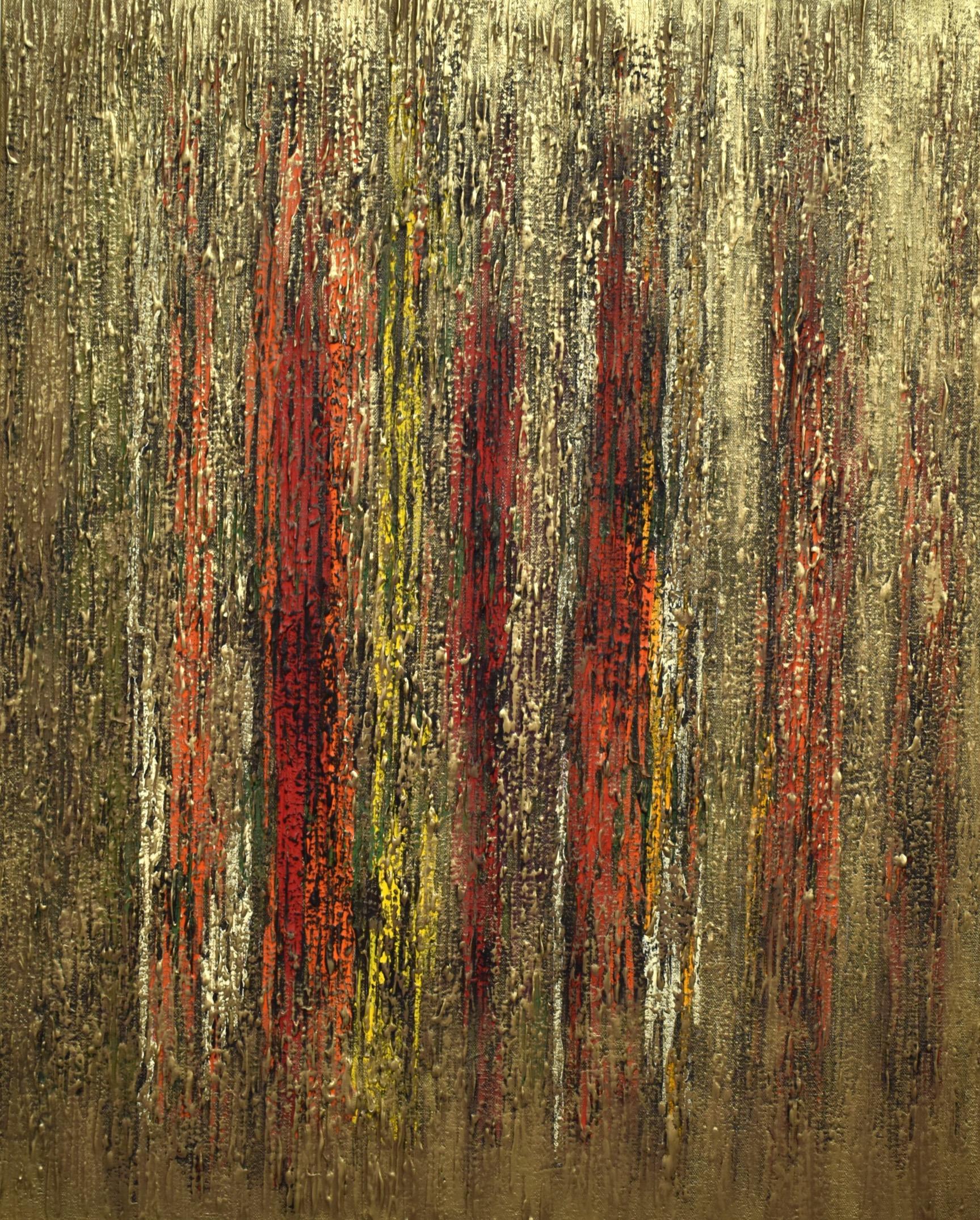 bronze color painting 76x61 cm