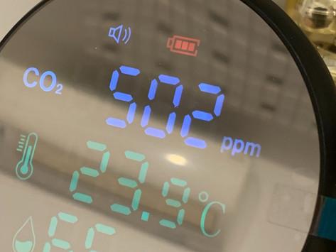 CO2測定器の設置