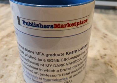 I put the Publishers Marketplace announcement for DARK THINGS I ADORE on a mug! :)
