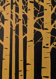 Yellow block print by Running Blynd.