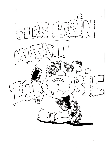 OURS LAPIN MUTANT ZOMBIE