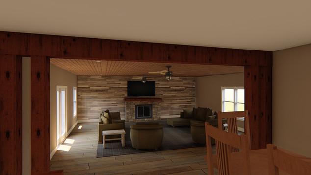 View of the bonus room