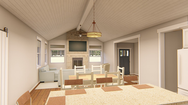 Another view inside the 'Emigrant' house plan.