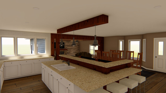 kitchen/bonus room remodel