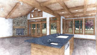 Interior of the cabin in Iowa