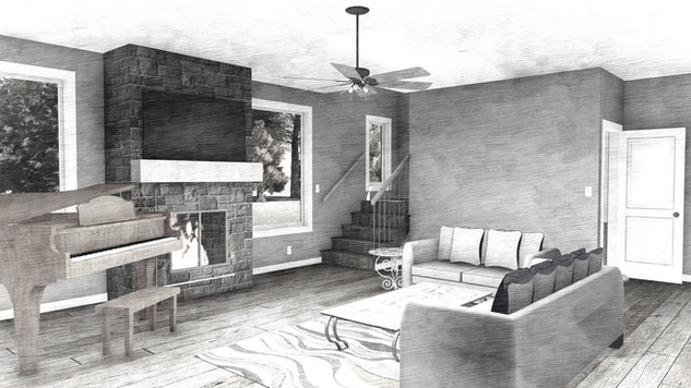 Interior perspective of a big addition project!