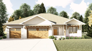 Custom front elevation for Vantage Design and Construction