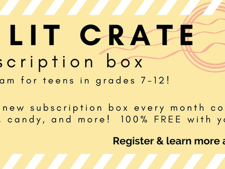 Teen Lit Crate: A New Subscription Box Service for Teens!
