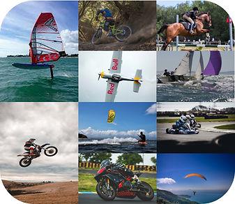 Mutlisports, motocross, karting, kitesurf, windsurf, vtt, équitation