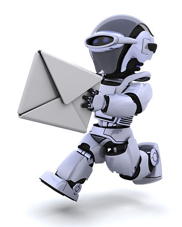 3D robot deliverin an envelope