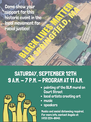Springfield BLM Mural Event flier 091220