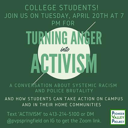 PVP IG- Turning Anger into Activism flie