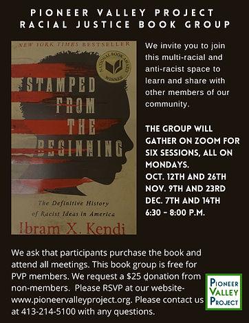 PVP Racial Justice Book Group Flier 0916