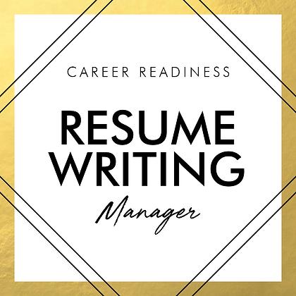Resume Writing | MANAGER