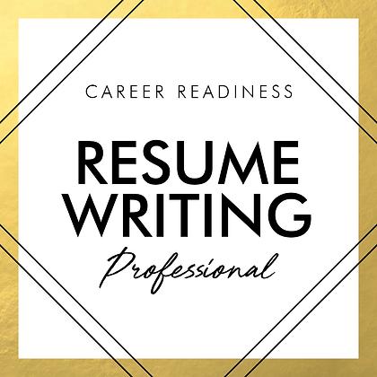 Resume Writing | PROFESSIONAL
