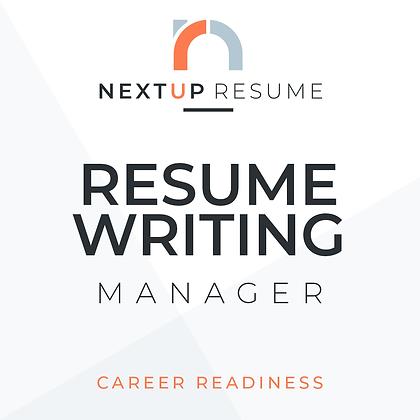 Resume Writing   MANAGER