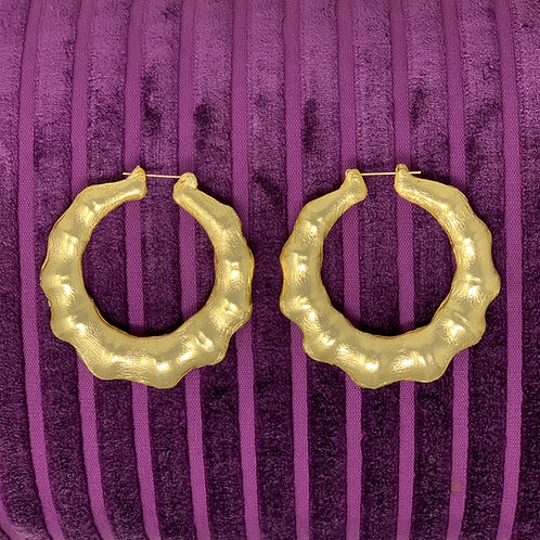"""3"""" 'LIQUID GOLD' THICK BAMBOO EARRINGS"""