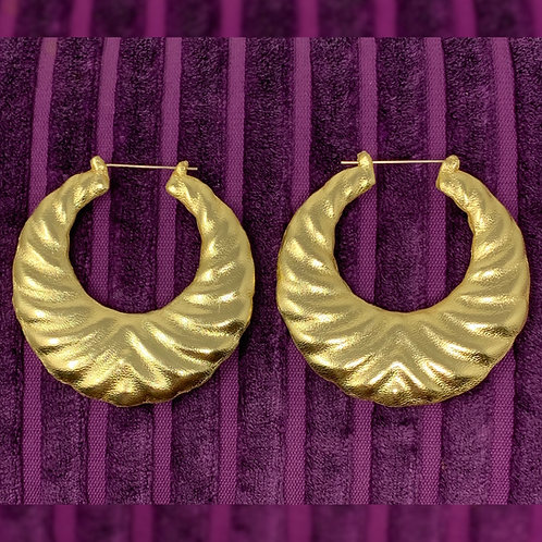 'LIQUID GOLD' WAVE EARRINGS