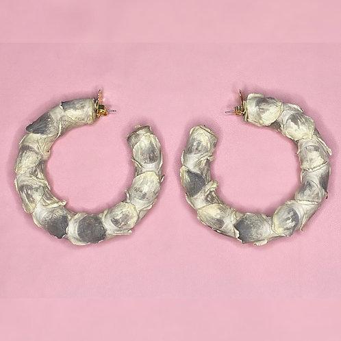 """3"""" GENUINE PYTHON HOOP EARRINGS"""