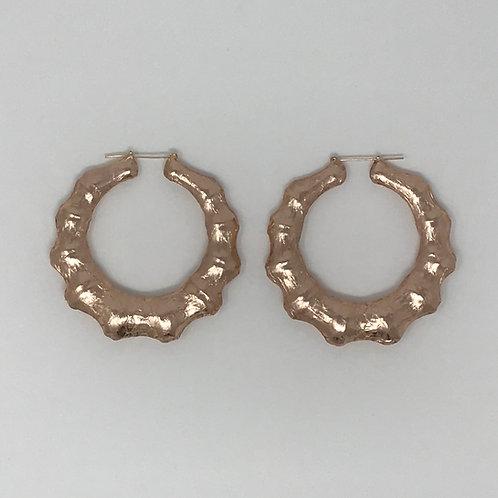 """3"""" ROSE GOLD BAMBOO EARRINGS"""