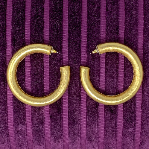 'LIQUID GOLD' THICK HOOPS