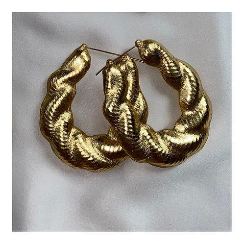 'LIQUID GOLD' TWIST BAMBOO EARRINGS