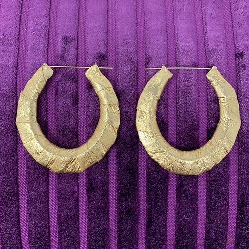 'LIQUID GOLD' WRAP EARRINGS