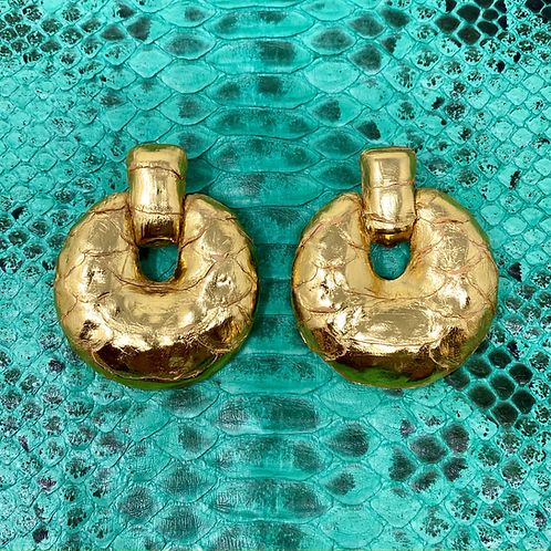 'VINTAGE VIBES' GOLD PYTHON EARRINGS