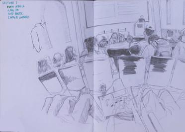People sketch