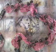 colar 3d cloth /tintura vegetal + rusty