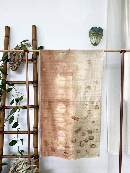 Impr. botânica + shibori + ouro