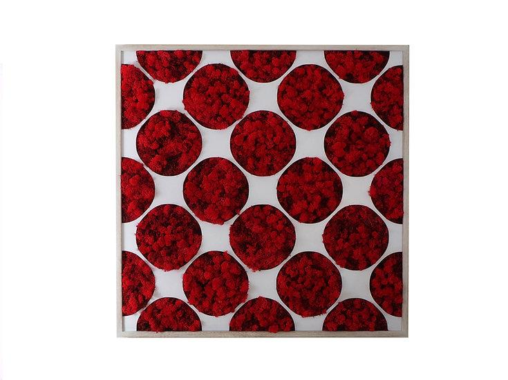 obraz Kruhy red