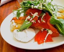 Bufala Mozzarella with Smoked Salmon