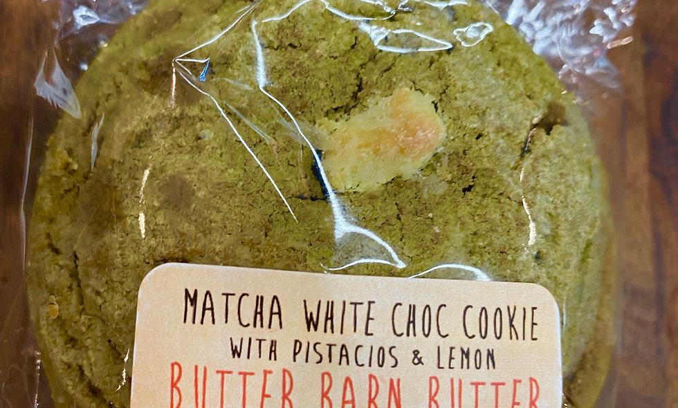 Gluten Free Matcha White Chocolate Pistachio Cookies