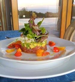 Crab, Ahi Tartar and Avocado with Greens