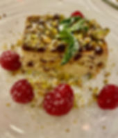 Crustless Keto Lemon Pistachio Cheesecak