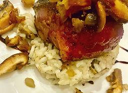 Filet on mushroom risotto .jpg