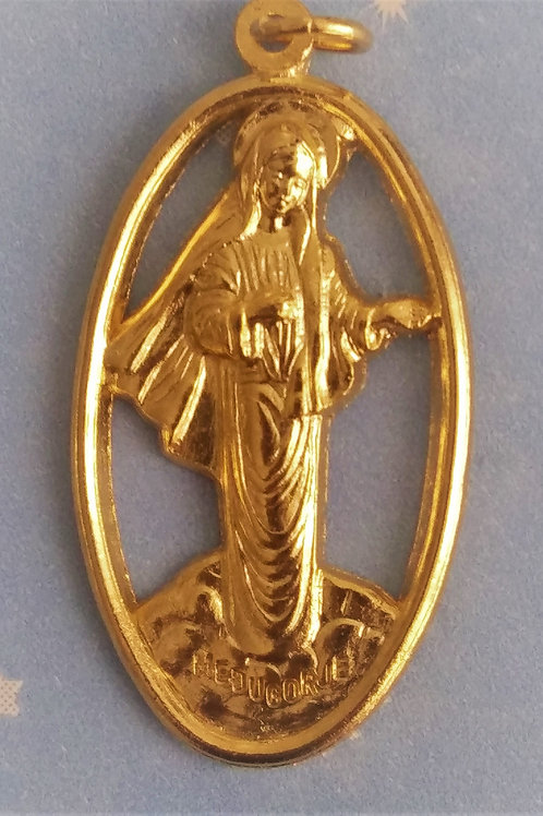 Our Lady of Medugorje Medal - Open Design