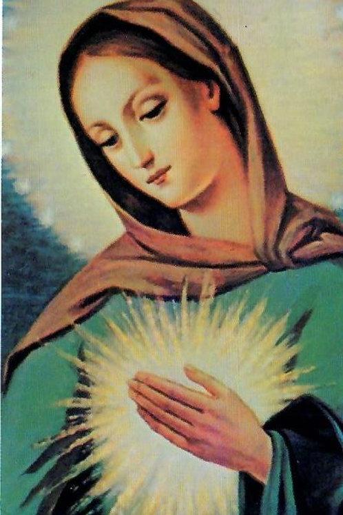 Flame of Love Prayer Card
