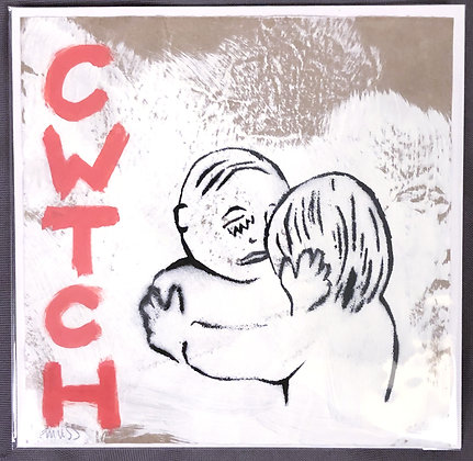 Cwtch (Vertical Red and Black)