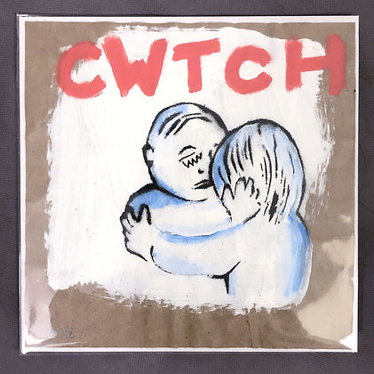 Cwtch (Red with Blue Fade 1)