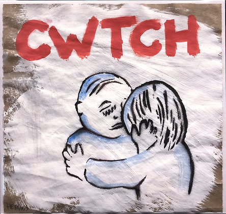 Cwtch (Red with Blue Fade 2)